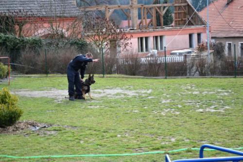 ZŠ: Ukázka práce psovodů - březen 2017